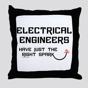 Electrical Engineers Sparks Throw Pillow